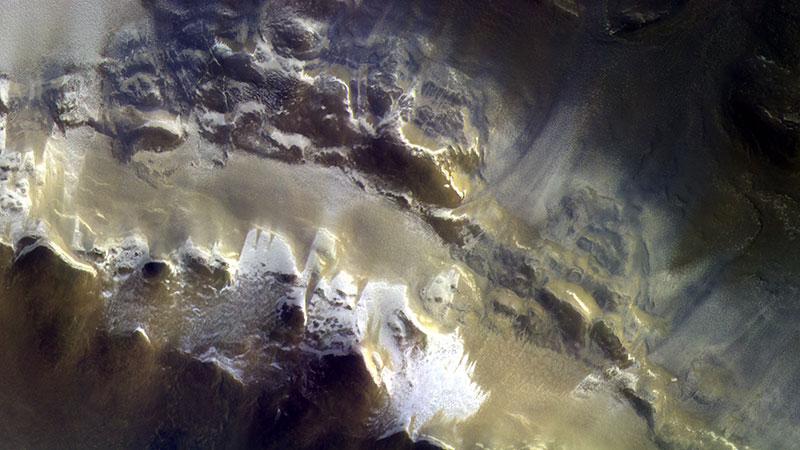 El cráter Korolev visto por la TGO