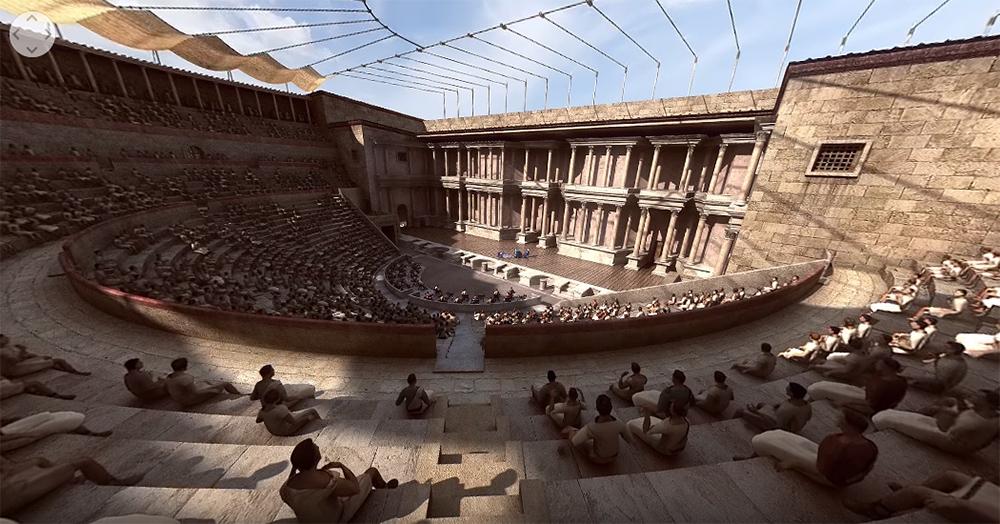 Guías virtuales de lugares históricos combinando vídeos 360° con realidad virtual y 3D