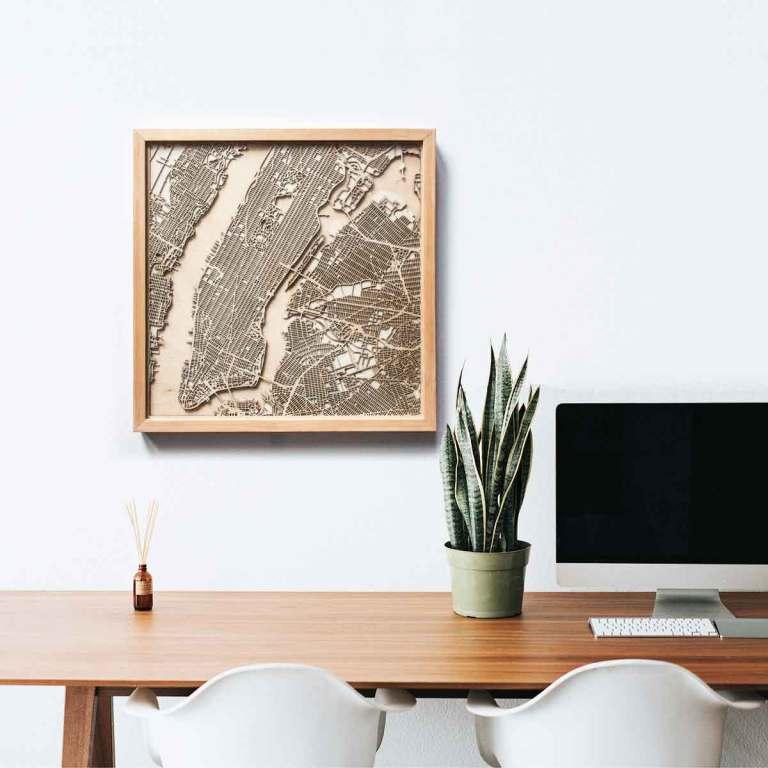 Mapas cortados en madera a modo de cuadros artísticos | Microsiervos ...