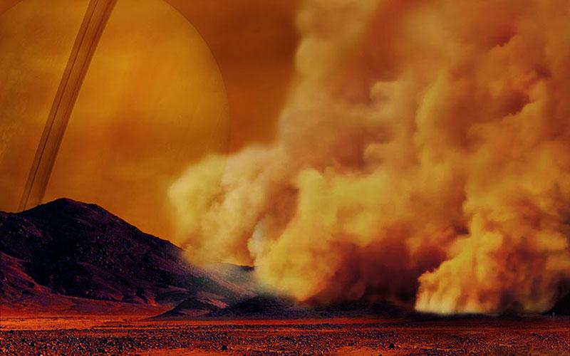 Tormenta de polvo en Titán – NASA/ESA/IPGP/Labex UnivEarthS/University Paris Diderot