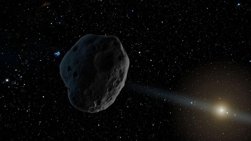 Un asteroide cualquiera; el que nos interesa está tan lejos que no hay imágenes molonas