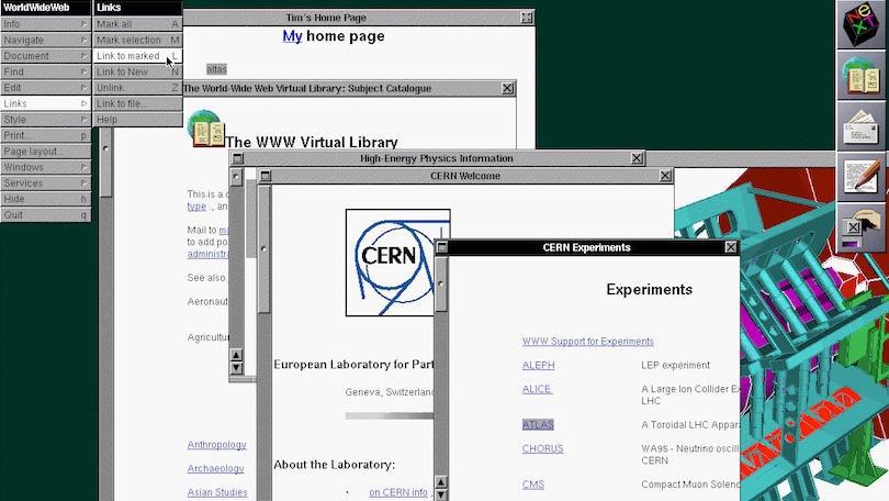 La web en un ordenador NeXT
