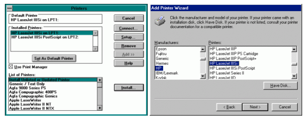 Windows Printer Wizard