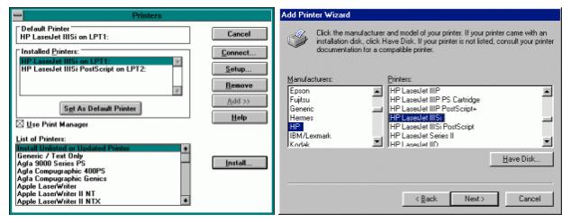 Windows Printer Wizard