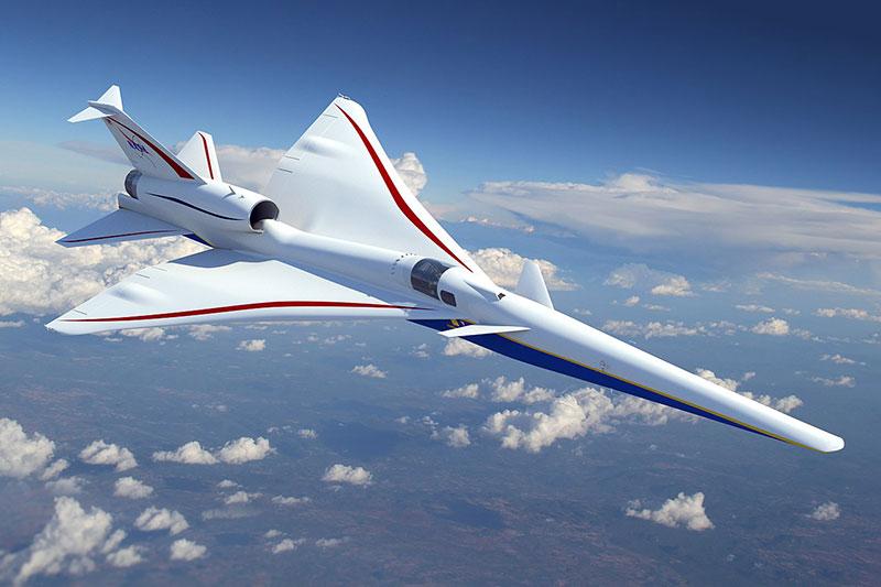X-59 en vuelo