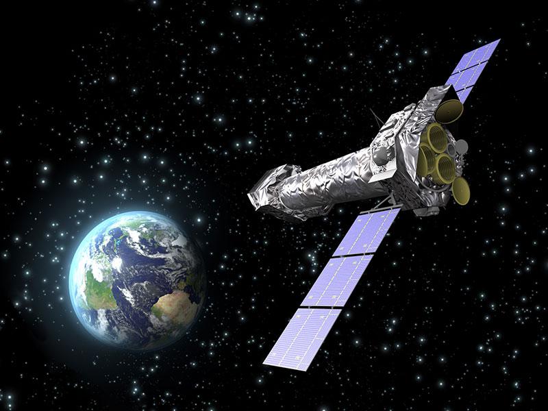 Impresión artística de Newton en el espacio - ESA-C. Carreau