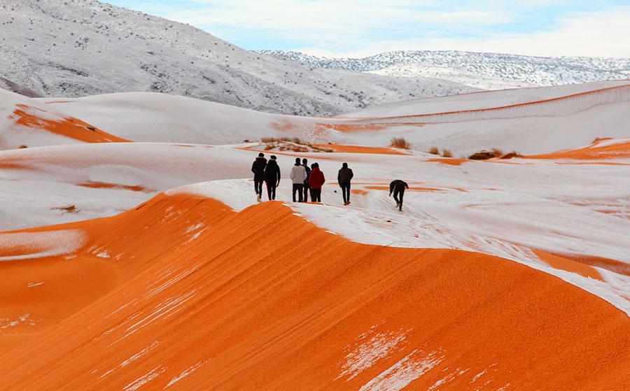 Nieve en el Sáhara por segundo año consecutivo en las últimas 4 décadas