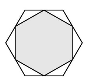 Hexágono en hexágono / SolveMyMaths.com