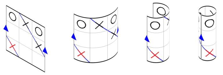 Tres en raya, topológicamente hablando