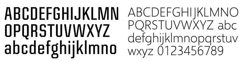 V fonts