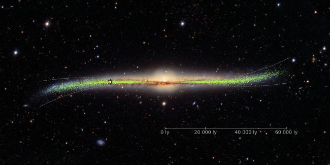 La Vía Láctea no es exactamente plana, sino un poco ondulada, como una patata frita