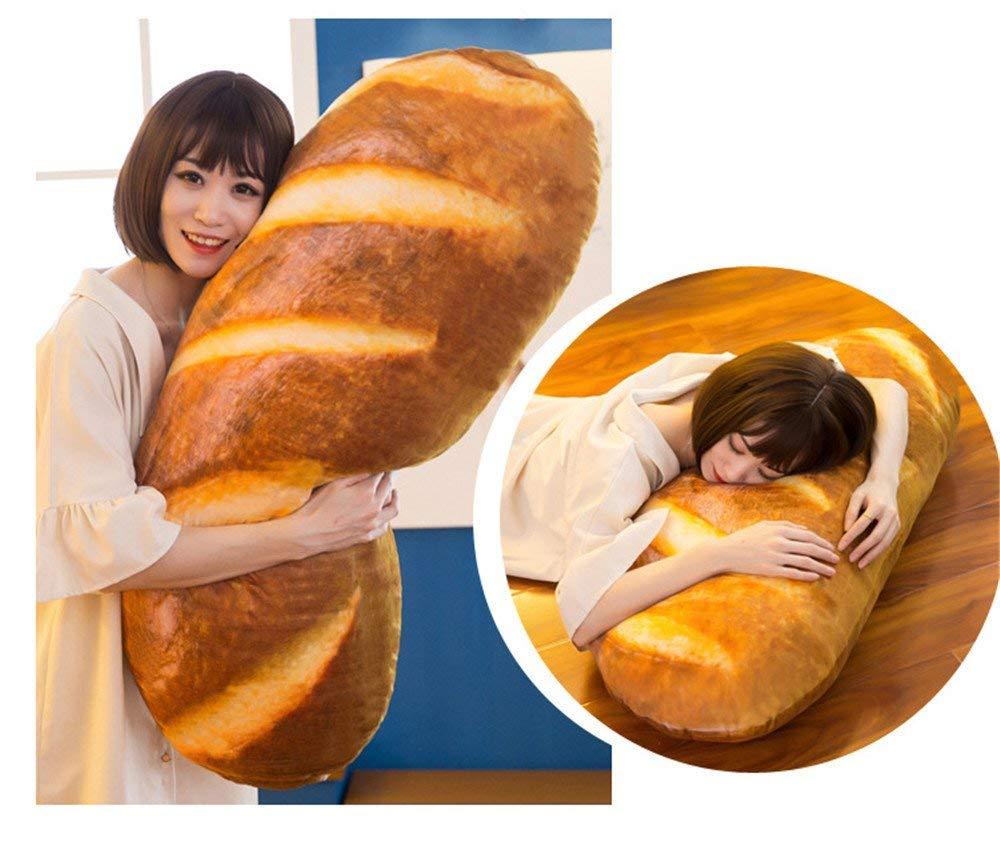 La almohada con forma de barra de pan «simulada»