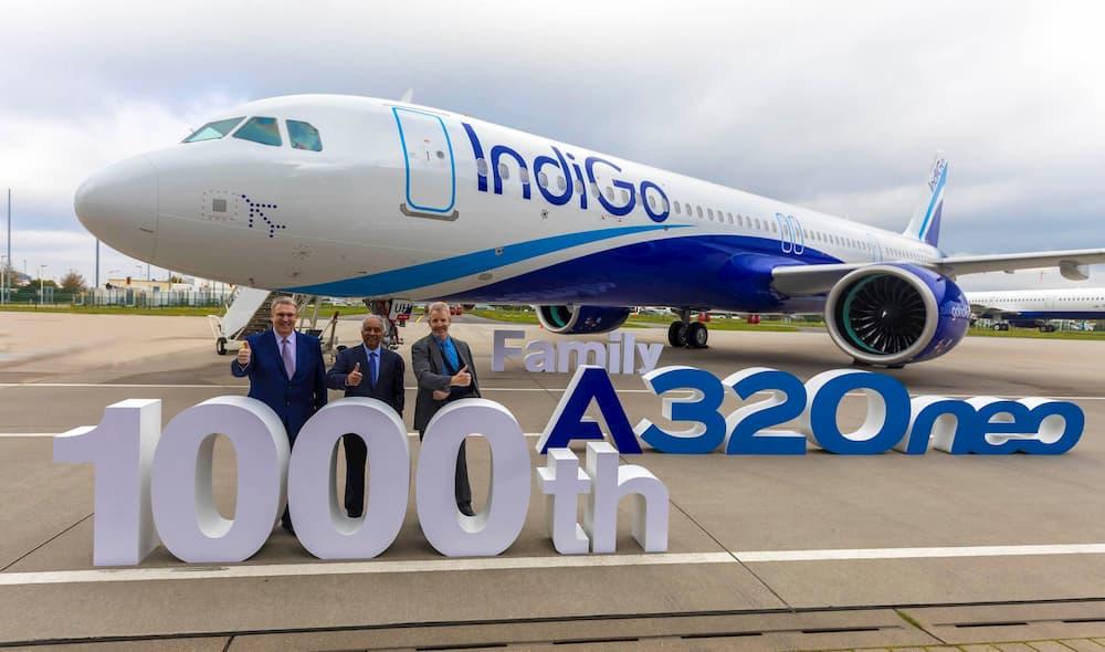 Foto del A320neo número 1.000 durante la ceremonia de entrega