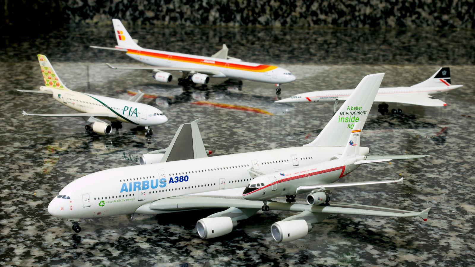 Un A380 y un A319 por MaQui