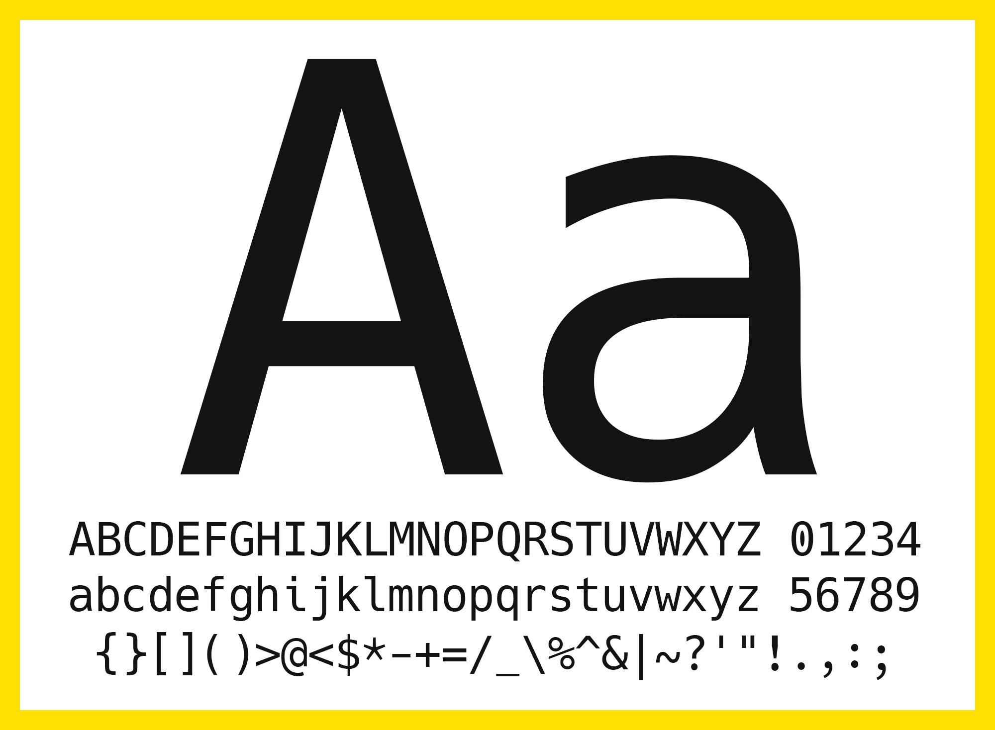 Hack, una tipografía monoespaciada