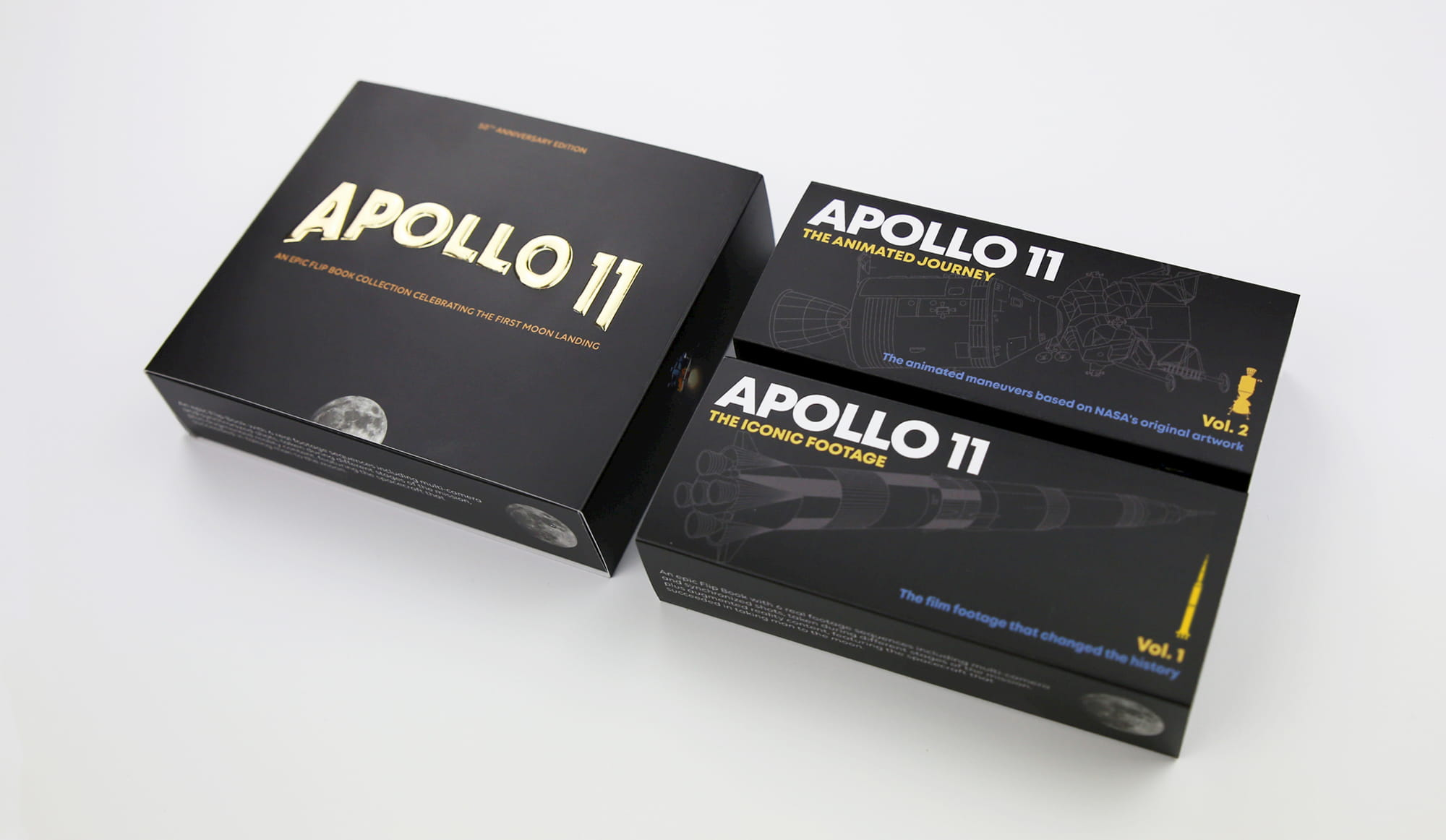 Apollo 11 - An Epic Moon Landing Flip Book Edition