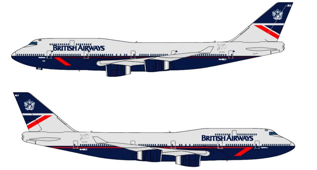 Boeing 747 de British Airways con la librea Landor