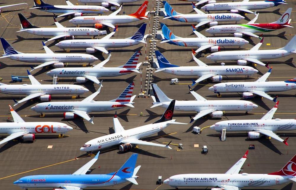 Beoing 737 MAX aparcados