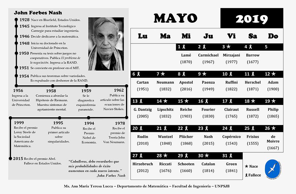 Matemáticos de hoy y de siempre en un magnífico calendario