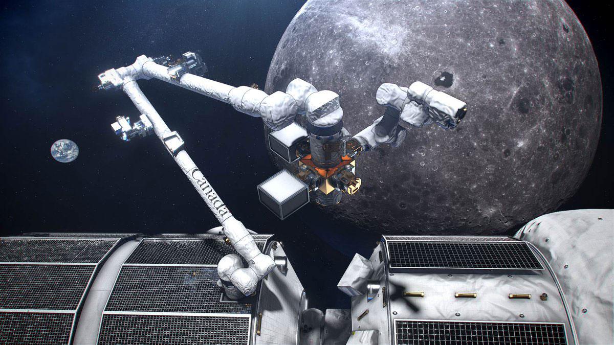 Impresión artística del «Canadarm 3»