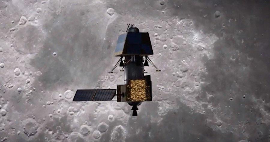 Chandrayaan-2 en órbita lunar