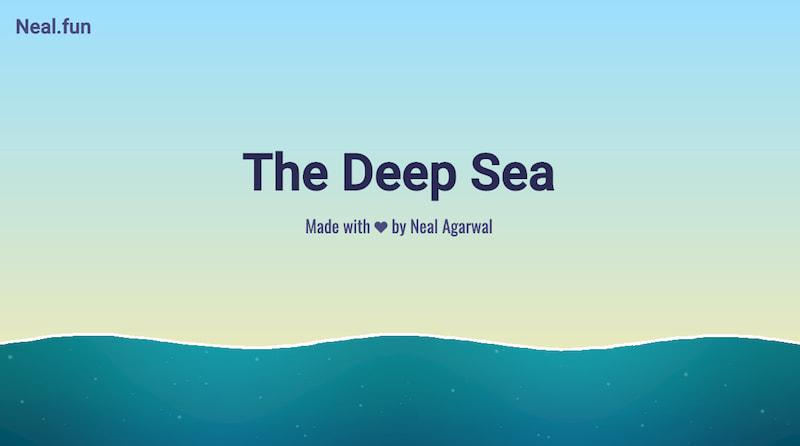 El mar profundo, una infografía casi infinita hasta las profundidades abisales