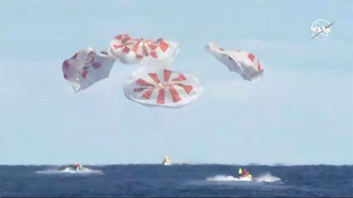 Termina con éxito la primera misión de prueba de una Crew Dragon