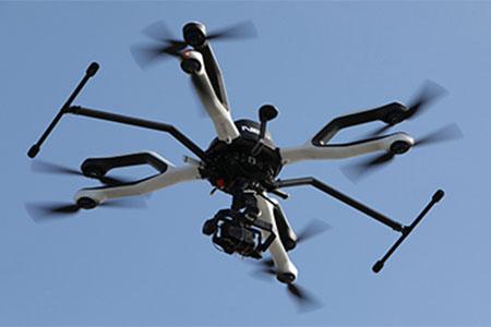 Un dron en vuelo