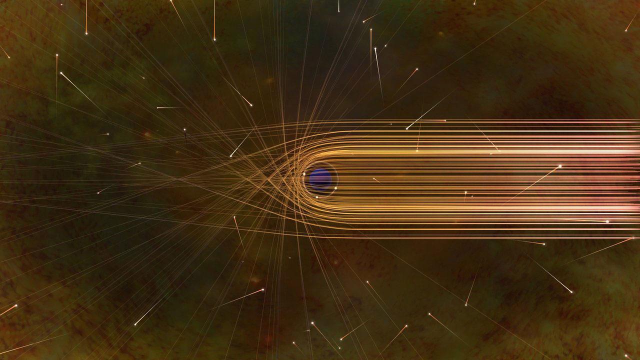 El camino de los fotones alrededor de un agujero negro