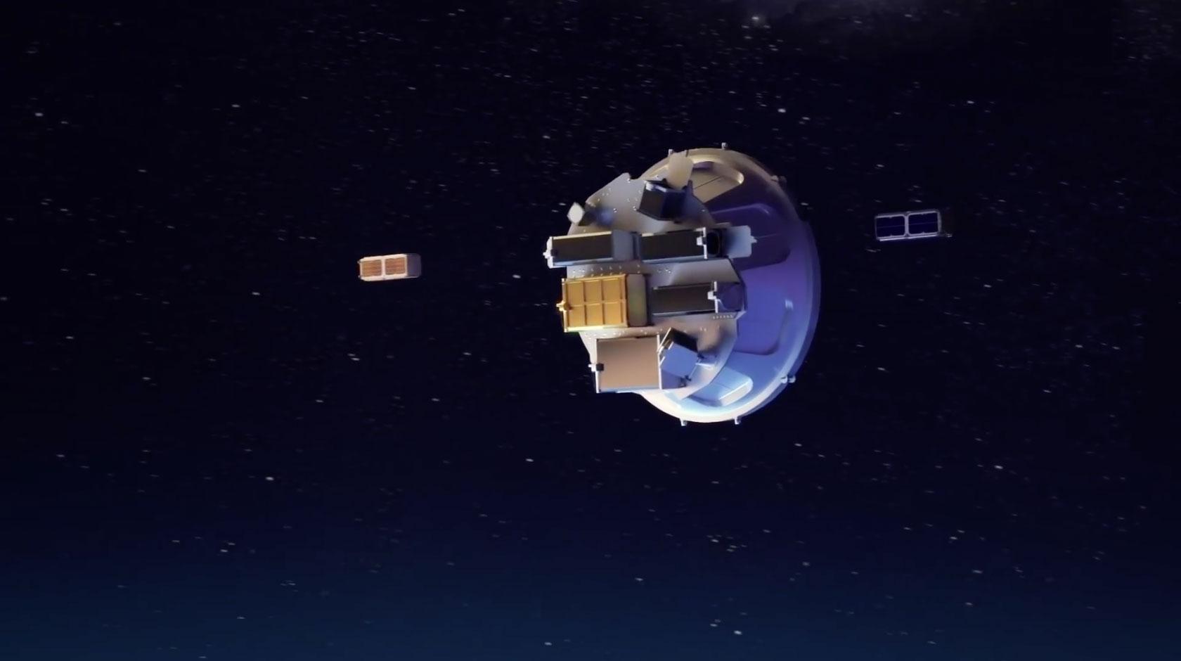 Eyección de satélites