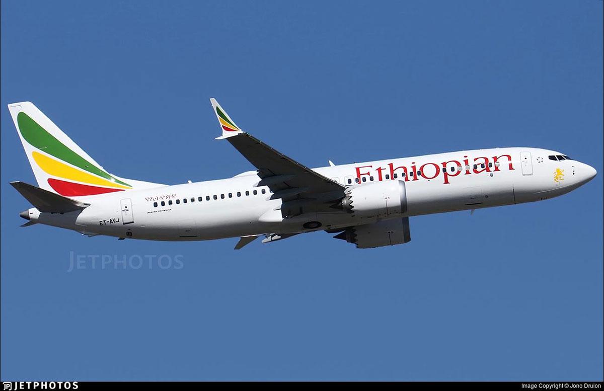 El avión accidentado fotografiado por Jono Druion