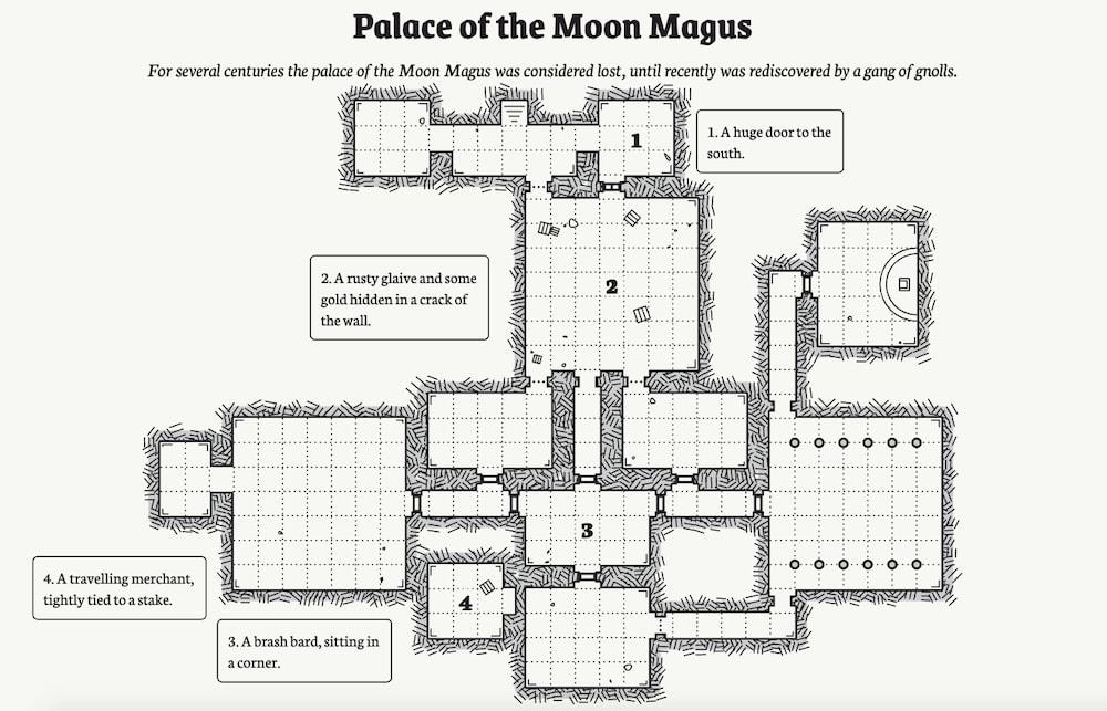 Un generador de mapas completos para juegos de rol estilo «Dragones y Mazmorras»