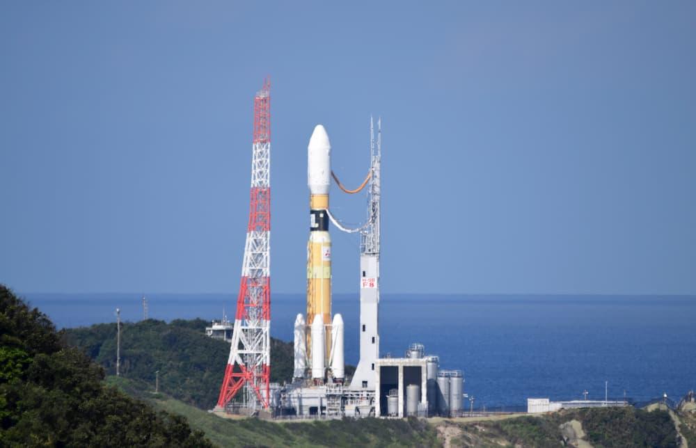 El HTV-8 de nuevo en la plataforma de lanzamiento