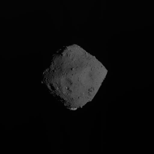 El asteroide Ryugu justo antes de la partida