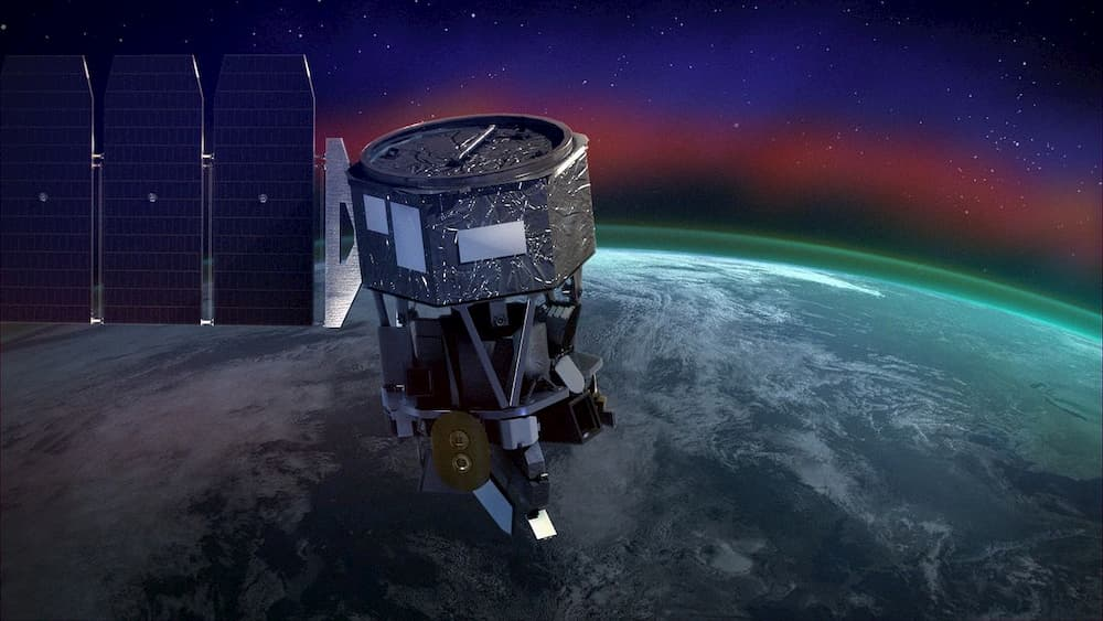 Impresión artística de ICON en órbita