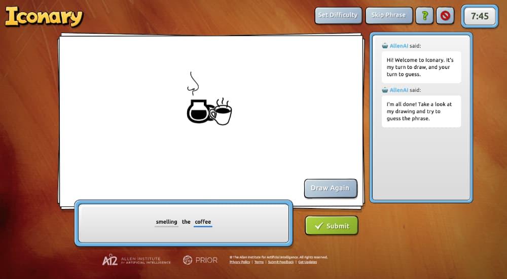 Iconary: Un juego de dibujar y adivinar dibujos junto con una inteligencia artificial