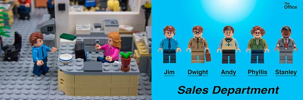 La oficina de Dunder Mifflin convertida en Lego, gran homenaje a «The Office»