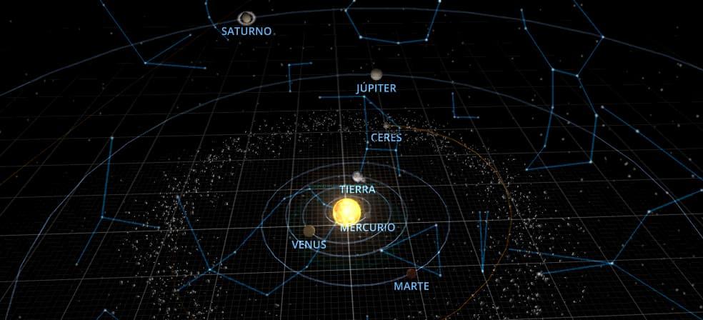 Júpiter en oposición / Solar System Scope