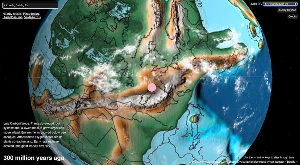 A Coruña hace 300 millones de años