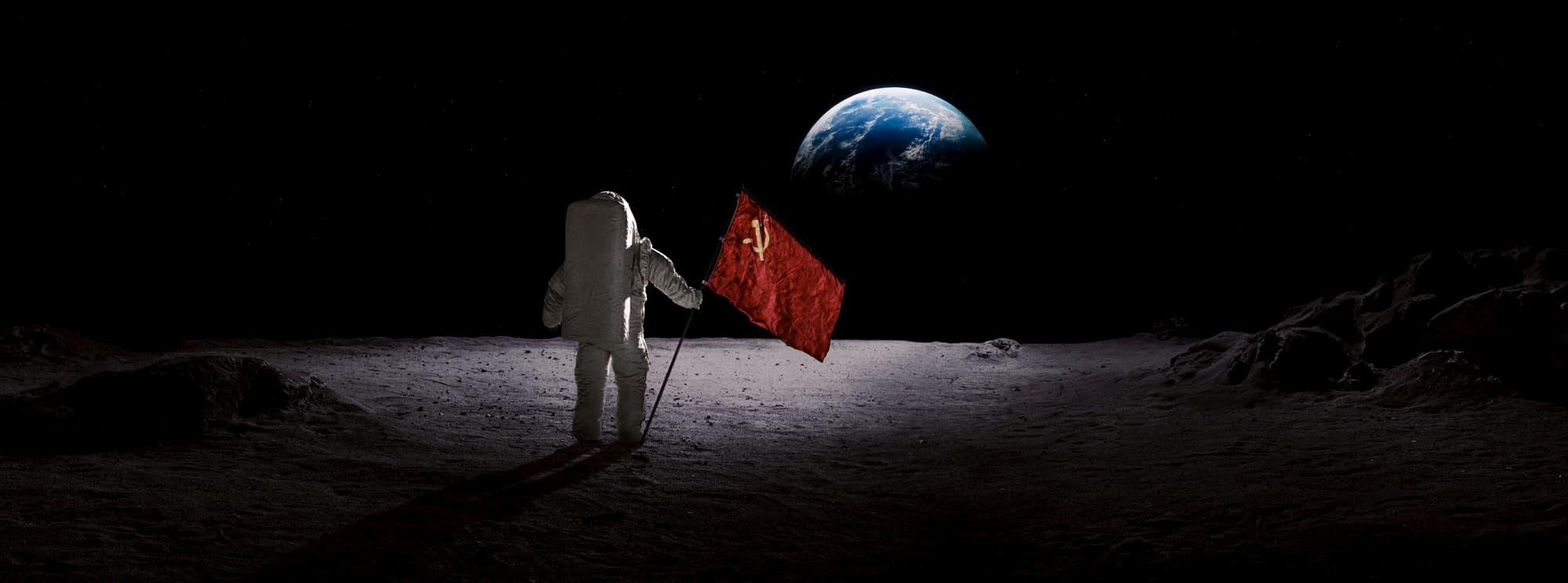 Alexei Leonov en la Luna