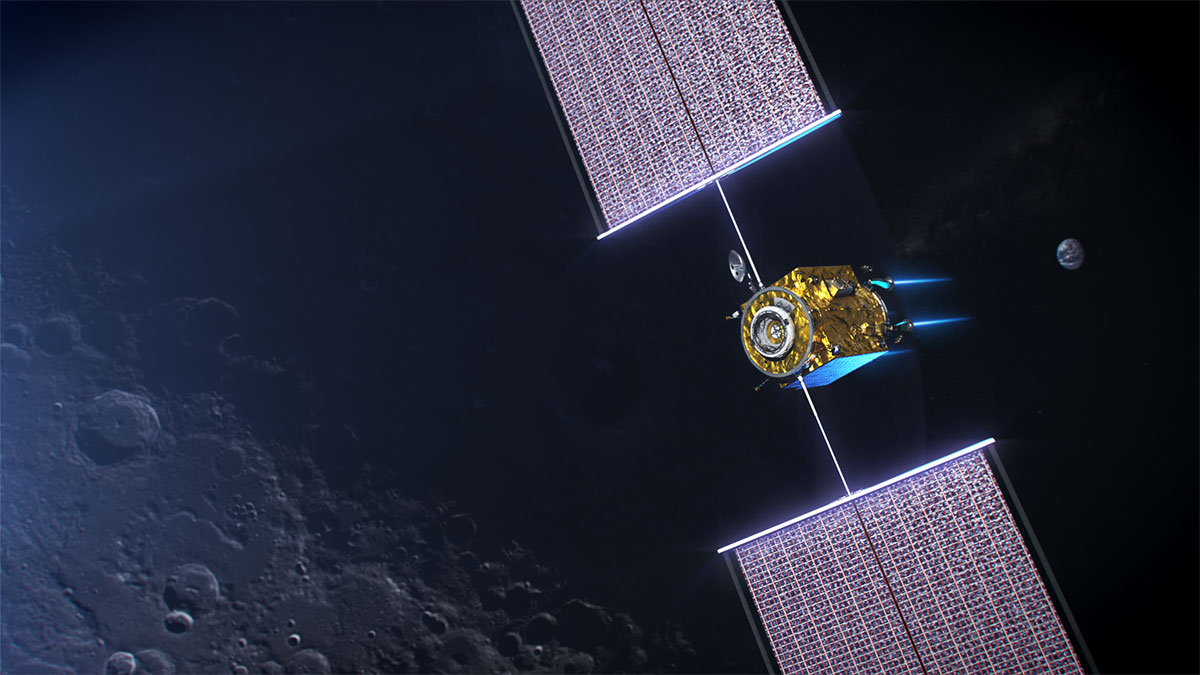 El PPE en órbita alrededor de la Luna