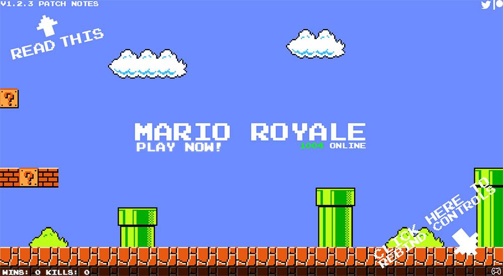 Mario Royale: una alocada versión multijugador del clásico juego de plataformas