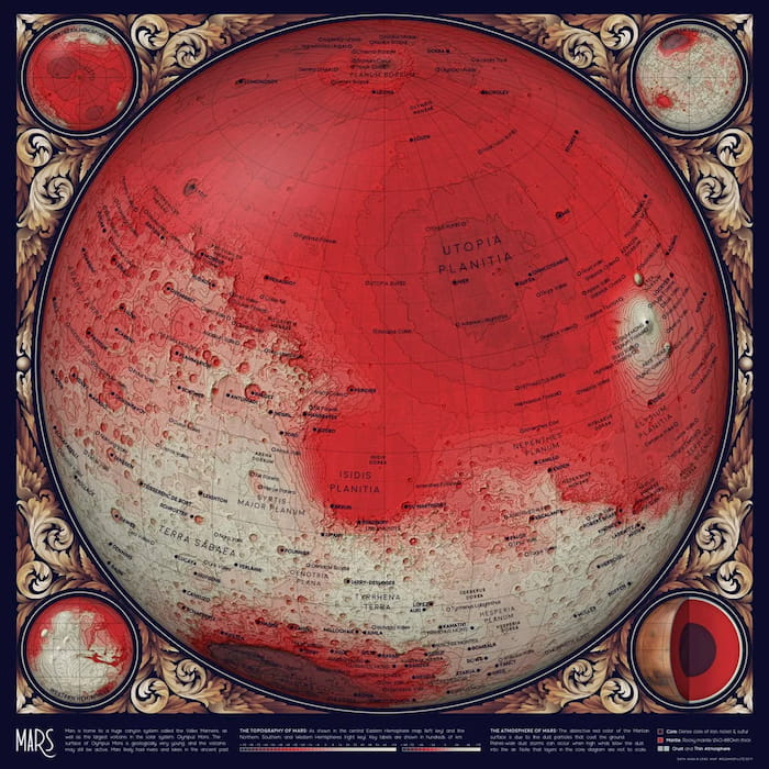 Un mapa topográfico de Marte / HelloHelloMoon