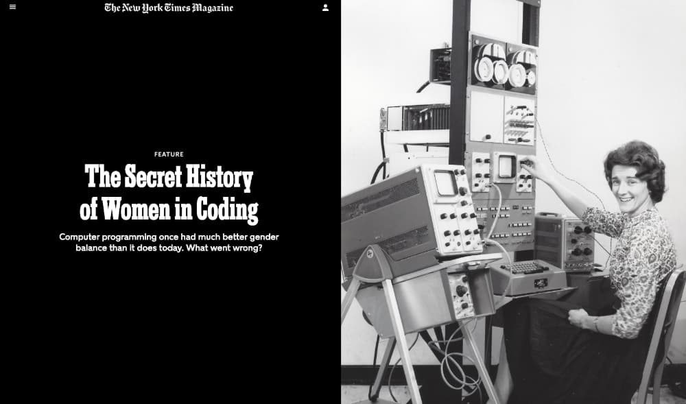 The Secret History of Women in Coding / NYT / Clive Thompson / Joseph C. Towler, Jr.