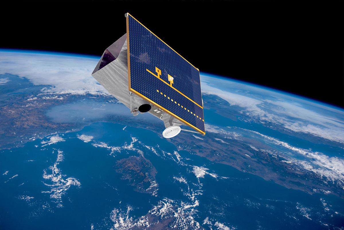 Impresión artística de PRISMA en órbita
