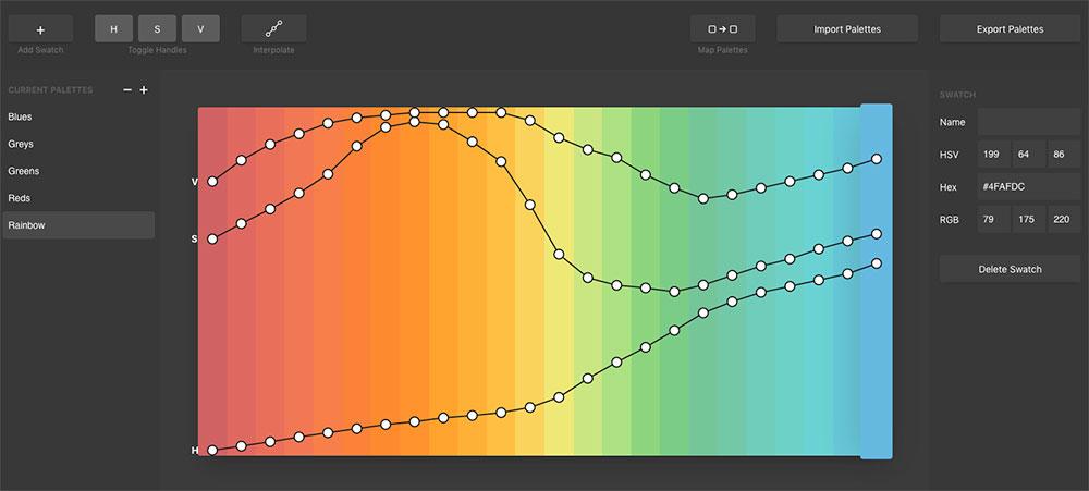 Palettte.app, un generador de paletas de color diferente