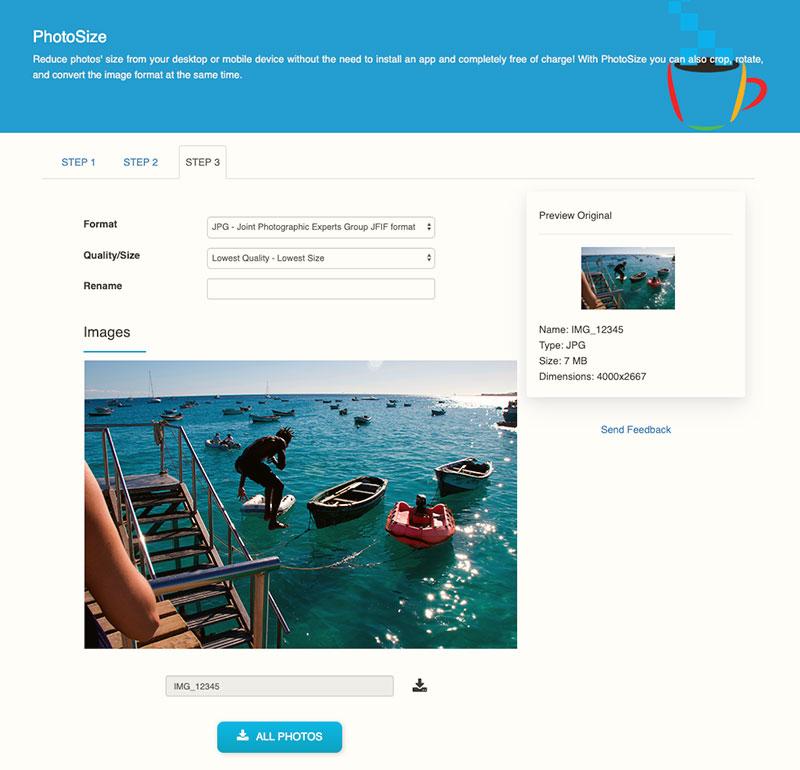 PhotoSize, una herramienta para reducir de tamaño lotes de imágenes y retocarlas un poco si hace falta