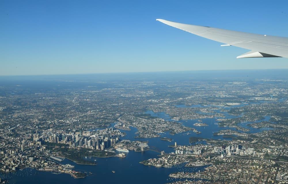 Sydney desde el vuelo QF7879 poco antes de aterrizar