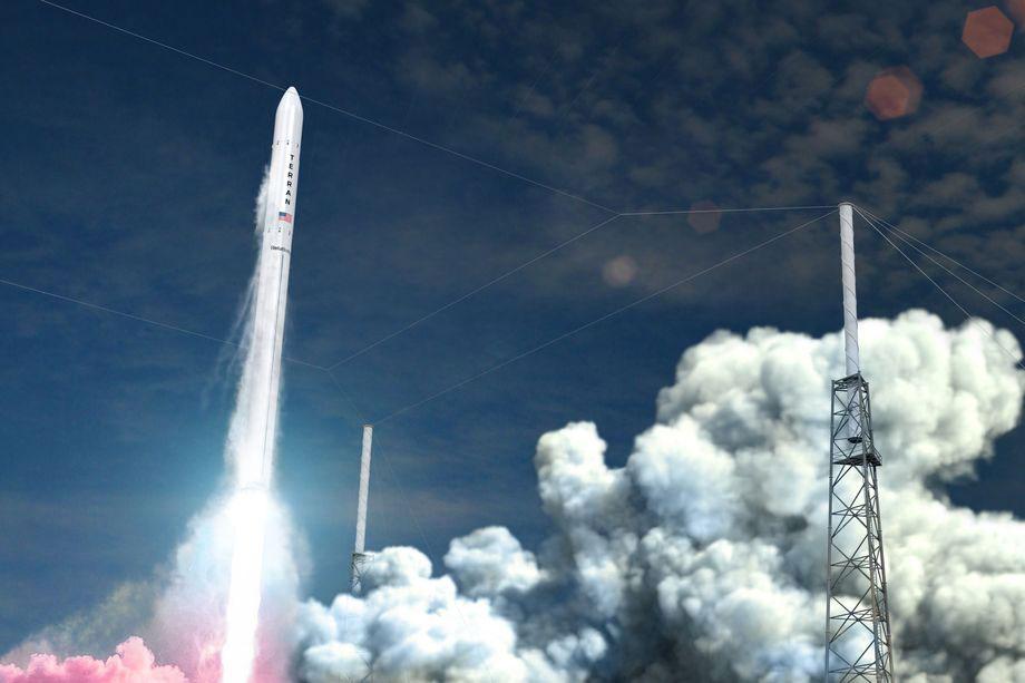 Imagen simulada del lanzamiento de un Terran 1