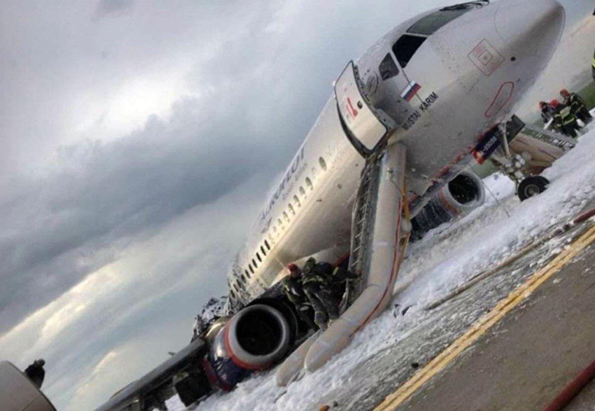 Restos del avión siniestrado